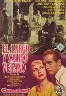 The Long, Hot Summer - Spanish Movie Poster (xs thumbnail)