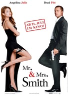 Mr. & Mrs. Smith - German Movie Poster (xs thumbnail)