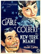 It Happened One Night - Belgian Movie Poster (xs thumbnail)