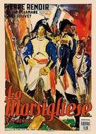 La marseillaise - Italian Movie Poster (xs thumbnail)