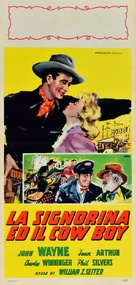 A Lady Takes a Chance - Italian Movie Poster (xs thumbnail)
