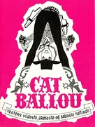 Cat Ballou - Danish DVD cover (xs thumbnail)