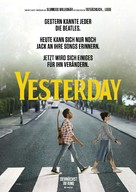 Yesterday - German Movie Poster (xs thumbnail)