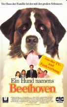 Beethoven - German VHS movie cover (xs thumbnail)