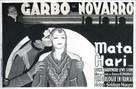 Mata Hari - French Movie Poster (xs thumbnail)