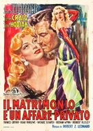 Marriage Is a Private Affair - Italian Movie Poster (xs thumbnail)