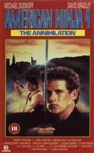 American Ninja 4: The Annihilation - British Movie Cover (xs thumbnail)