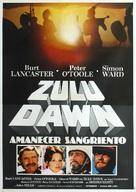 Zulu Dawn - Argentinian Movie Poster (xs thumbnail)