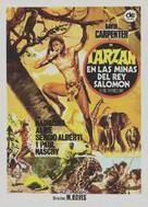 Tarzán en las minas del rey Salomón - Spanish Movie Poster (xs thumbnail)