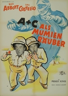 Abbott and Costello Meet the Mummy - German Movie Poster (xs thumbnail)