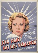 Only Yesterday - Dutch Movie Poster (xs thumbnail)