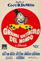 The Greatest Show on Earth - Italian Movie Poster (xs thumbnail)