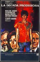 La décade prodigieuse - Spanish Movie Poster (xs thumbnail)