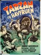 Tarzan and the Mermaids - Danish Movie Poster (xs thumbnail)