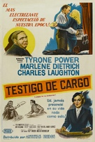 Witness for the Prosecution - Argentinian Movie Poster (xs thumbnail)