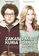 Zack and Miri Make a Porno - Lithuanian Movie Poster (xs thumbnail)