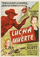Man in the Saddle - Spanish Movie Poster (xs thumbnail)