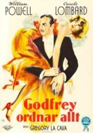 My Man Godfrey - Swedish Movie Poster (xs thumbnail)