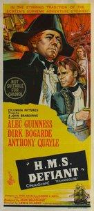 H.M.S. Defiant - Australian Movie Poster (xs thumbnail)