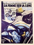 Frau im Mond - French Movie Poster (xs thumbnail)