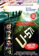 U-571 - Swedish Movie Cover (xs thumbnail)