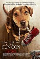 A Dog's Way Home - Vietnamese Movie Poster (xs thumbnail)