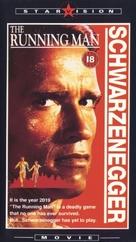 The Running Man - British VHS movie cover (xs thumbnail)