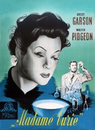 Madame Curie - Danish Movie Poster (xs thumbnail)