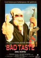 Bad Taste - Spanish Movie Cover (xs thumbnail)