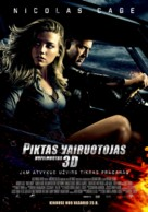 Drive Angry - Lithuanian Movie Poster (xs thumbnail)
