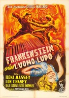 Frankenstein Meets the Wolf Man - Italian Movie Poster (xs thumbnail)