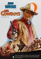 The Cowboys - German Movie Poster (xs thumbnail)