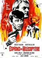 The Helicopter Spies - French Movie Poster (xs thumbnail)
