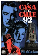 The House on 92nd Street - Spanish Movie Poster (xs thumbnail)