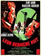 Leur dernière nuit - French Movie Poster (xs thumbnail)