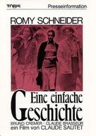 Une histoire simple - German DVD cover (xs thumbnail)