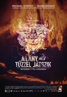 Flickan som lekte med elden - Hungarian Movie Poster (xs thumbnail)