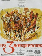 Les trois mousquetaires - French Movie Poster (xs thumbnail)