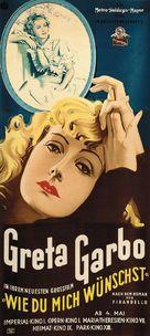 As You Desire Me - German Movie Poster (xs thumbnail)