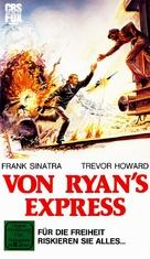 Von Ryan's Express - German VHS movie cover (xs thumbnail)