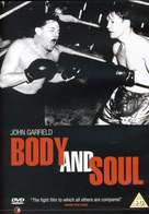 Body and Soul - British DVD movie cover (xs thumbnail)
