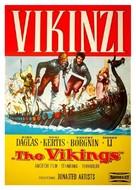 The Vikings - Yugoslav Movie Poster (xs thumbnail)