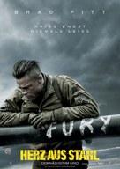 Fury - German Movie Poster (xs thumbnail)