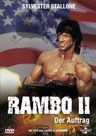 Rambo: First Blood Part II - German DVD cover (xs thumbnail)