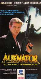 Alienator - Argentinian VHS movie cover (xs thumbnail)