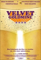 Velvet Goldmine - German Movie Poster (xs thumbnail)
