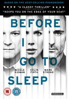 Before I Go to Sleep - British DVD movie cover (xs thumbnail)