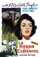 Elephant Walk - Spanish Movie Poster (xs thumbnail)