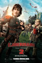 How to Train Your Dragon 2 - Turkish Movie Poster (xs thumbnail)