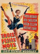 Three Little Words - Belgian Movie Poster (xs thumbnail)